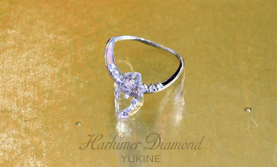 ハーキマーダイヤモンドリング