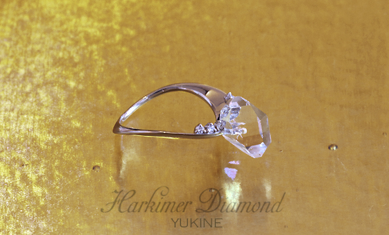 ハーキマーダイヤモンド リング2